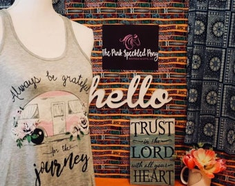 Always Be Grateful for the Journey Ladies Tank - Small