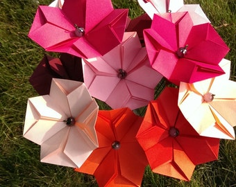Origami flowers | Etsy - photo#21