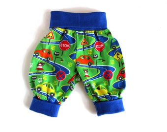 Cars baby pants organic harem pants 0 - 6 years Road Trip toddler harem trousers slouch pants sarouel organic kids clothes, eco kids wear