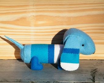 Felt dachshund - DIY felt kit