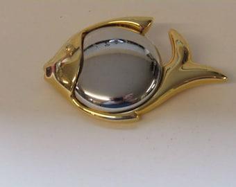 Fish brooch marked LCi