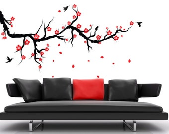 Charming Cherry Blossom Wall Decal Branch Wall Decals For Nursery Headboard Wall  Decal Stick On Wall Art
