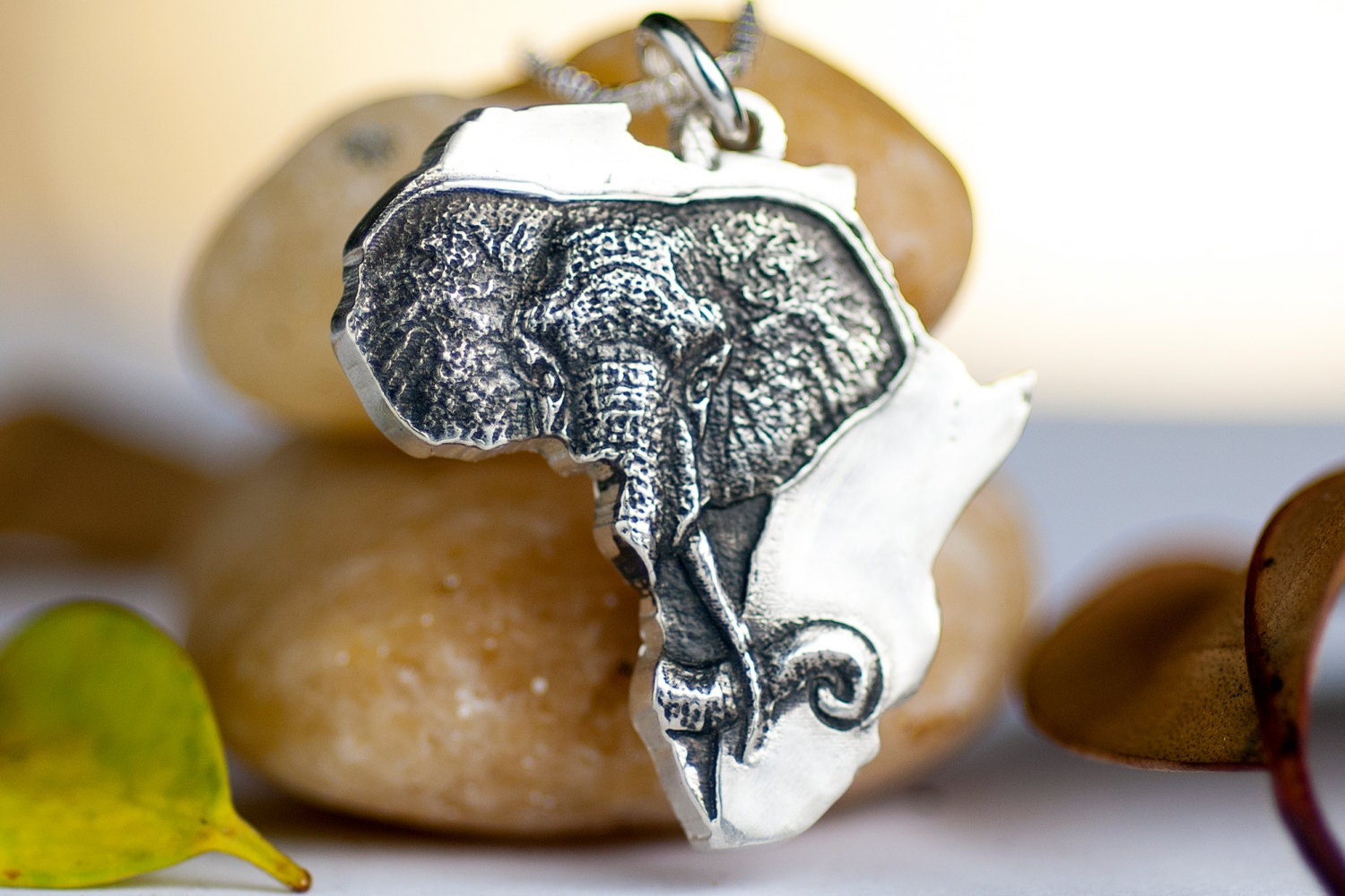 Africa necklace elephant african jewelry sterling silver zoom aloadofball Image collections