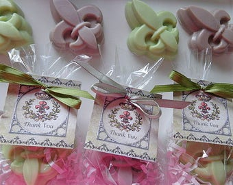 10 Fleur De Lis Soap Favors, Weddings, Showers, Birthdays, Special Occasion Favors