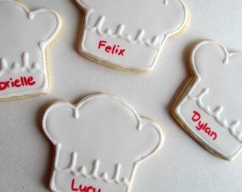 Little Chef hat cookies! Perfect for a little chef or cooking party!