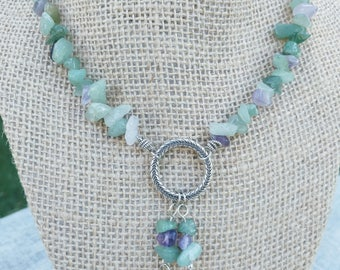 Aventurine and Amethyst Necklace and Bracelet