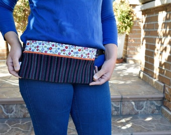 Waist bag,fanny pack,reversible waist bag,stripped fanny pack,floral waist bag,reversible purse,reversible handbag,jeans waist bag,hips bag