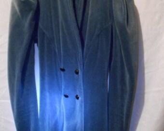 Blue Velvet Jacket, 1980's Betsey Johnson