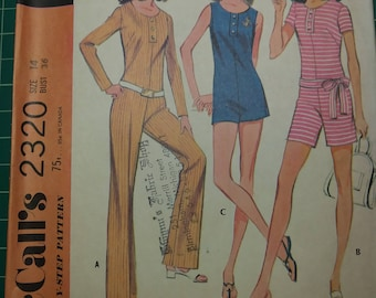 McCall's 1970 Pattern 2320 Size 14 Bust 36