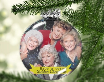 Golden Girls Ornament - Golden Girls Gifts - Have a Golden Christmas - Fan Gift - Golden Girls Fan - Sweet Tea and Grace - Shady Pines
