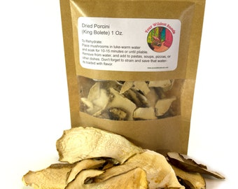 Dried Porcini (King Bolete) 1 Oz.