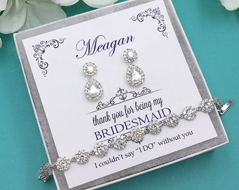 Bridesmaid Earrings, Bridesmaid Earrings Set, Bridesmaid Jewelry Gift, Personalized Bridesmaid Earrings, Jaelynn Bridesmaids Earrings