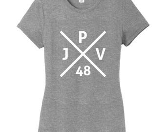 Custom Crossed X Monogram Women's Fitted T-Shirt
