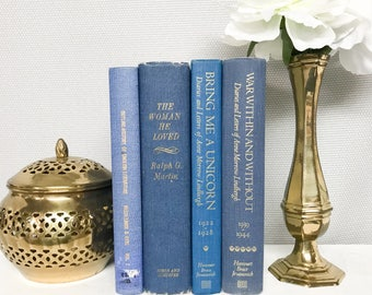 Blue Decorative Books