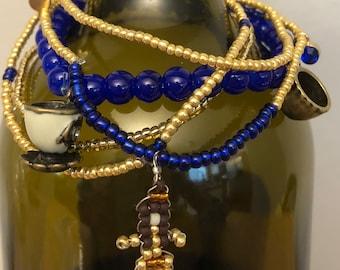 Disney-themed bracelet stacks