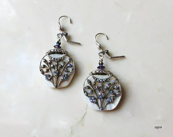 Earrings - Glittering Tree
