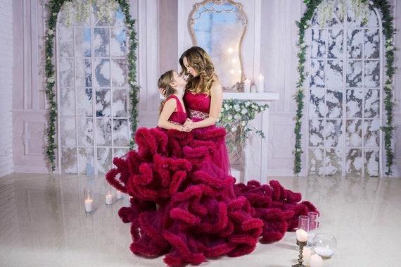 Mutter Tochter passende Kleid lila Wolke Kleid Mama und mich