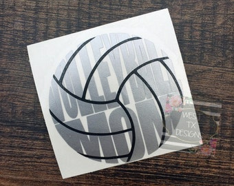 Volleyball Mom Decal | Sports Mom | Volleyball Decal | Volleyball Mom Car Decal | Volleyball Decal for Yeti