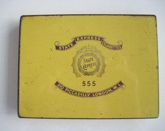 State Express 555 cigarette tin (50/empty) - Purple Lettering c.1940/60