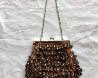 Vintage retro beaded evening bag