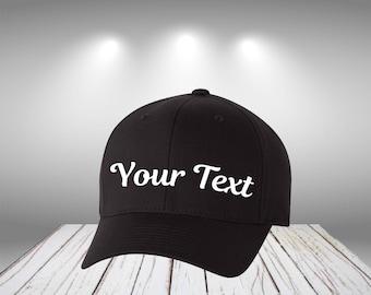 Cotton Blend Cap  Customize Cap  Personalized Cap Your Text Here Cap Customize Cotton Cap  Custom Cap