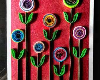 Handmade paper quilling Mother's Day cards