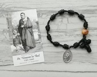 St. Vincent de Paul Rosary Bracelet - with medal