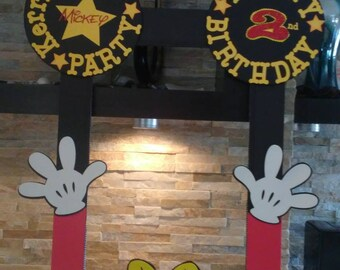 Mickey Mouse  Photo Booth Frame/ Mickey Mouse's   Photo Booth/ Mickey Mouse Props