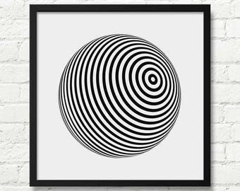 Optical Illusion Art, Wall Decor, Art Print, Optical Wall Art, Large Abstract Decor, Abstract Art, Optical Illusion, Abstract Print