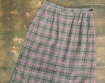 Vintage Black & Purple Tweed Pendleton Skirt