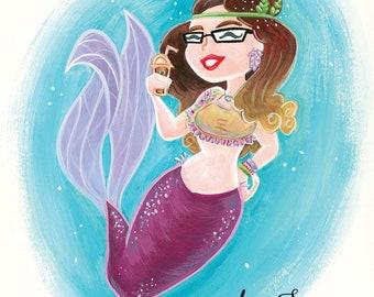 Werden Sie ein Zeichen! Meerjungfrau, Fee, Sirene, Superheld, etc. - von handbemalt ORIGINAL - Charakter-Portrait, Karikatur