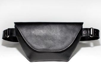 Fanny pack leather black