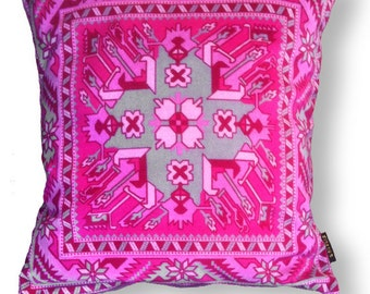 Sofa pillow pink velvet cushion cover PINK TOPAZ