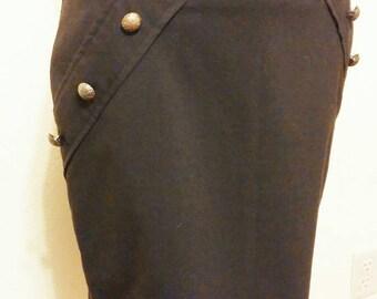 Sexy Diesel Punk Inspired Button Skirt