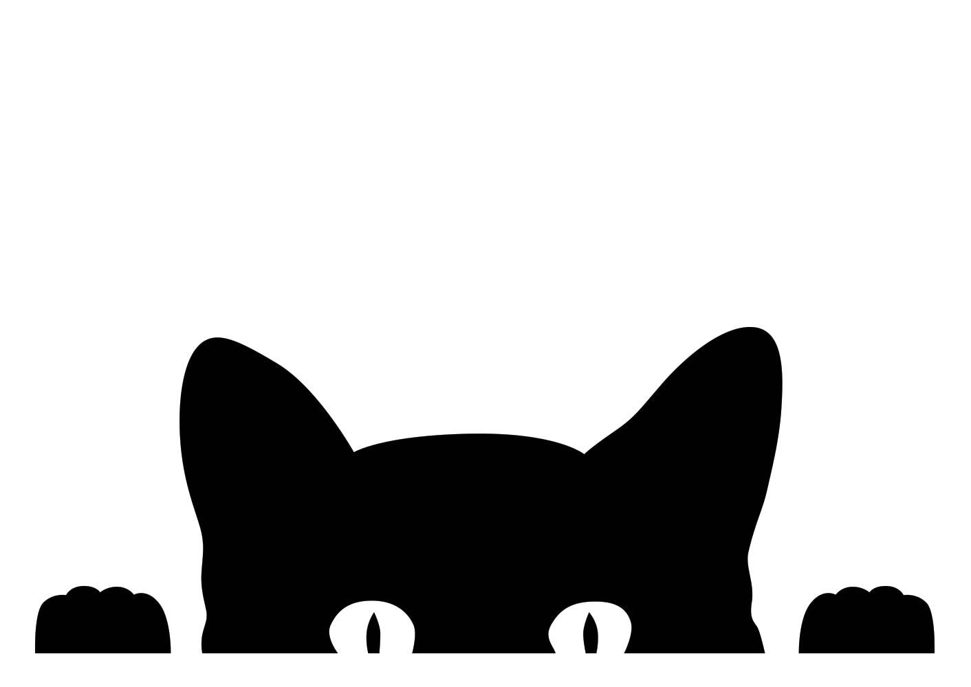 peeking cat kitten vinyl decal sticker proceeds go to our cat face clipart pics cat face clipart black and white