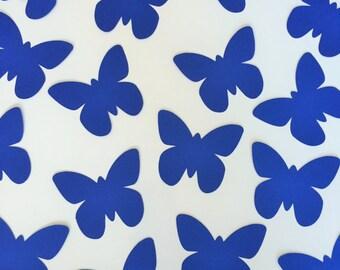 """Butterfly Die Cuts (3"""" wide), 100 Blue Paper Butterflies, Butterfly Wish Tag, Blue Butterfly Tags, Butterfly Wedding Decor, Baby Boy Shower"""