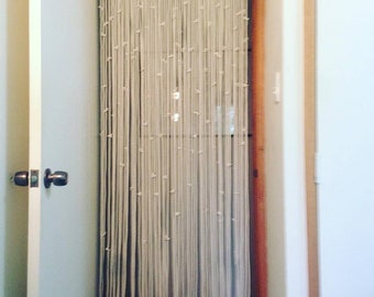 Home Decor Styling Interiors  Macrame Rope With Knotted Pelmet and accents  Door Curtain