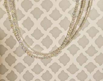 Multi Strand Rainbow Pearl Necklace and Bracelet Set