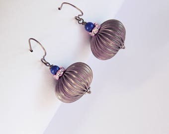 Lotus Pod Lapis Earrings Dangle Drop Earrings Earrings Perfect Gifts For Her