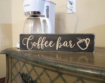 Coffee Bar Sign,home And Living,home Decor,coffee Bar,coffee Sign