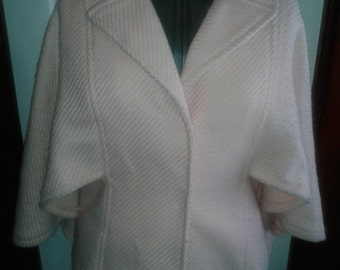 Pastel Pink Wool Capelet- size M