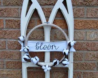 Bloom Cotton Stem Hoop Wreath