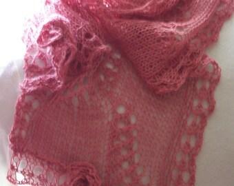 Instant Download pdf Hand Knitting Pattern - Sakura scarf