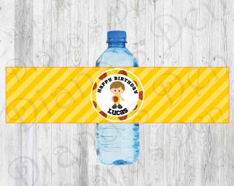 Basketball Water Bottle Labels/Basketball Tags/Basketball Labels/Basketball Wrappers/Basketball Party/Basketball Birthday/Sport Bottle Label