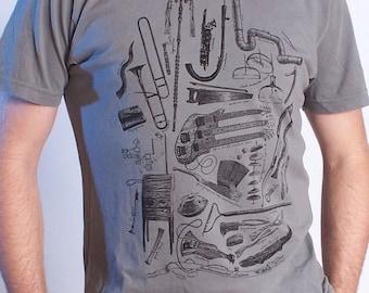Music Tshirt - Strange Music - Musician Gift - Graphic Tee Men - Weird Stuff - Gifts for Musicians