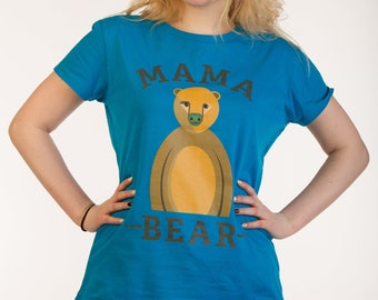 Earth day sale - Ethically made - Ladies mama bear organic t-shirt - vegan safe inks - eco friendly - environmentally friendly - fair trade