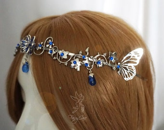 Elven tiara, fairy tiara, medieval crown, circlet, fairy wings headdress
