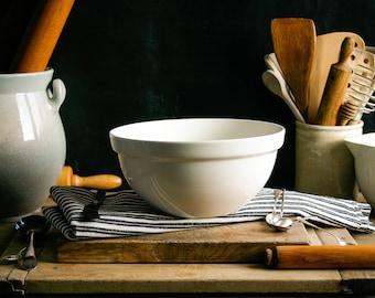 Vintage Ironstone Mixing Bowl / Pudding Bowl