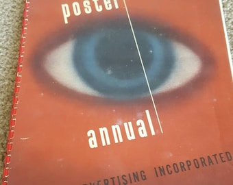 1946 Poster Annual Outdoor Advertising Incorporated. Signed by author!
