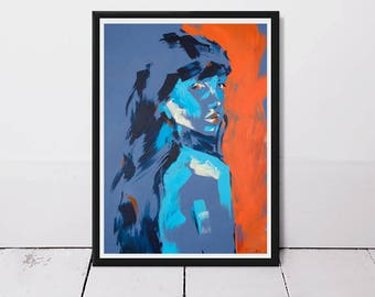 Abstract art print, woman art, colourful wall art, modern art, wall art, fine art prints, contemporary art, abstract painting, art prints